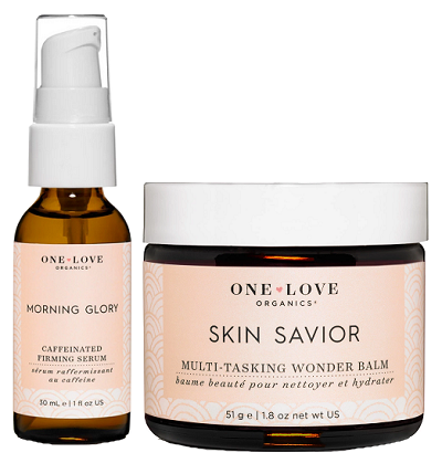 One Love Organics - balzám Skin Savior a pleťové sérum Morning Glory