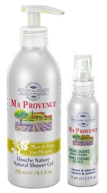 Ma Provence - mandlový krém na ruce a sprchový gel s vůní květu vinné révy