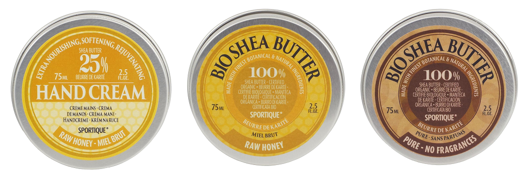 Sportique - krém na ruce a nehty s medem, bambucké máslo Raw honey a Pure