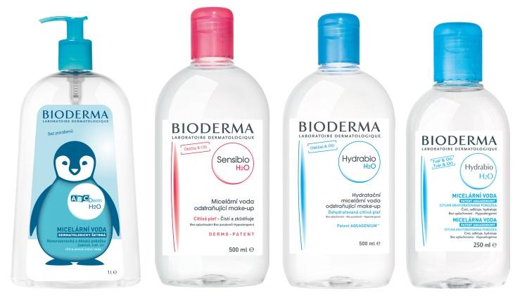 Bioderma - Hydrabio dermální voda, ABCDerm H2O a Sensibio H2O