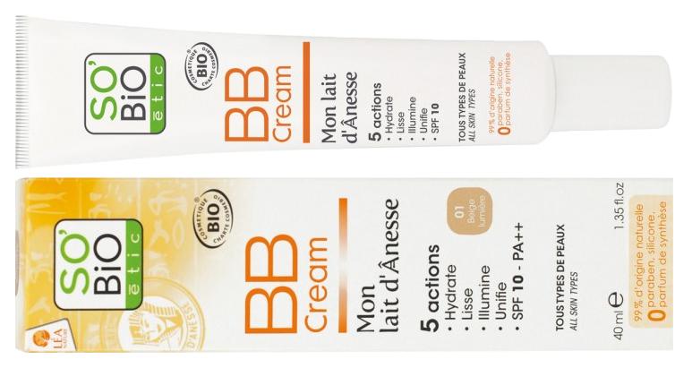 SO´BIO - Bio BB krém s obsahem oslího mléka, odst. 01