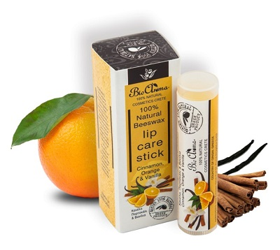 BioAroma – balzám na rty – pomeranč, skořice a vanilka