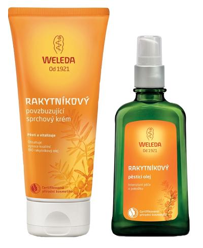Weleda - rakytníkový olej a sprchový krém