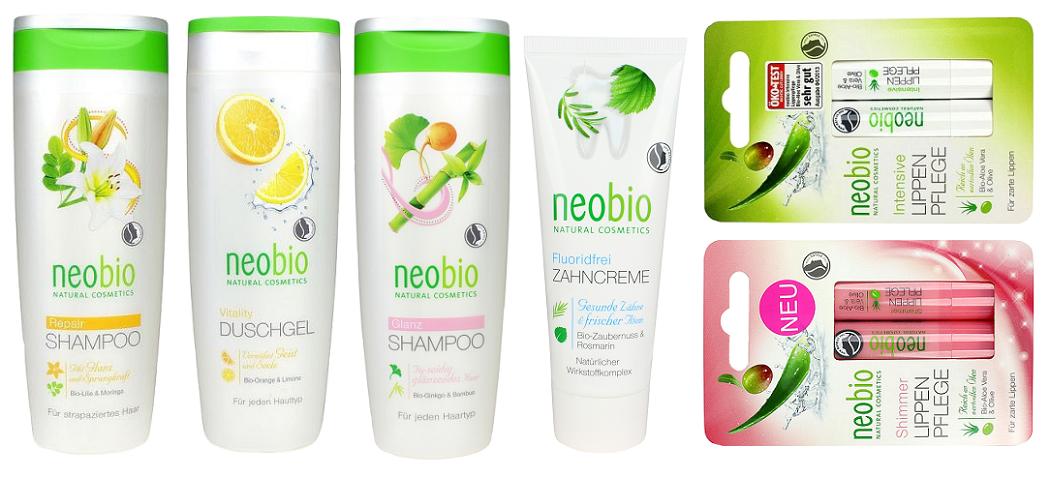 Neobio - šampony, zubní pasta, balzámy na rty, sprchový gel