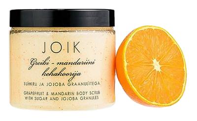 JOIK - Tělový peeling s grapefruitem, mandarinkou a bílým cukrem