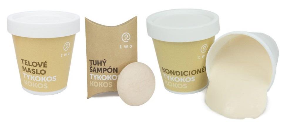 """2SIS - kokosová řada """"TYKOKOS"""" (tuhý šampon, kondicionér, tělové máslo)"""