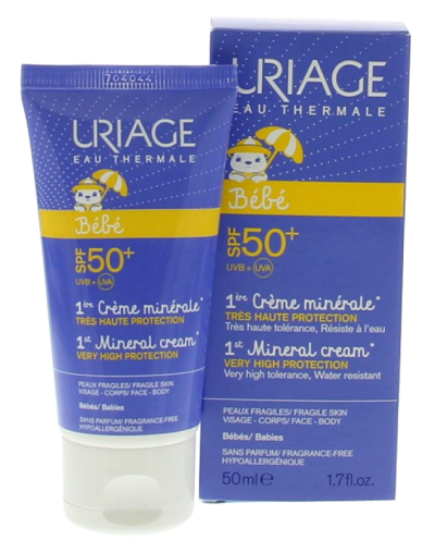 Uriage - BéBé creme minerale SPF50 (opalovací krém pro nejmenší)