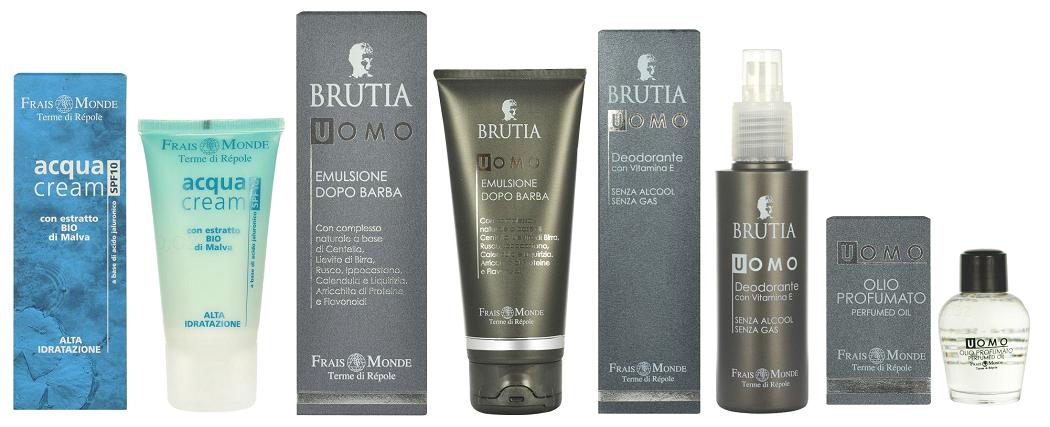 Frais Monde - pleťový krém Acqua, řada Brutia (emulze po holení, parfémovaný olej, deodorant)