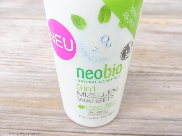 Neobio - Micelární voda 3v1 (bio máta & mořská sůl)