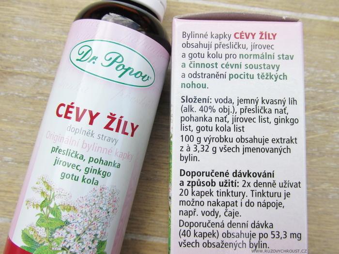 Dr. Popov - bylinné kapky Cévy-žíly