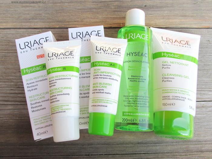 Uriage - řada HYSÉAC pro mastnou pleť s akné