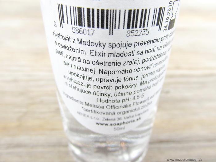 Soaphoria - Přírodní květová voda Meduňka