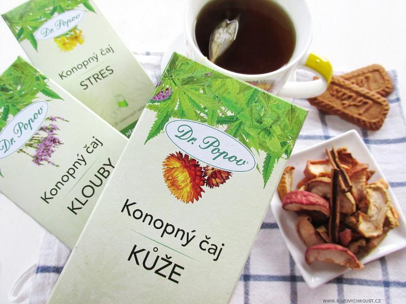 Dr. Popov - konopný čaj Kůže