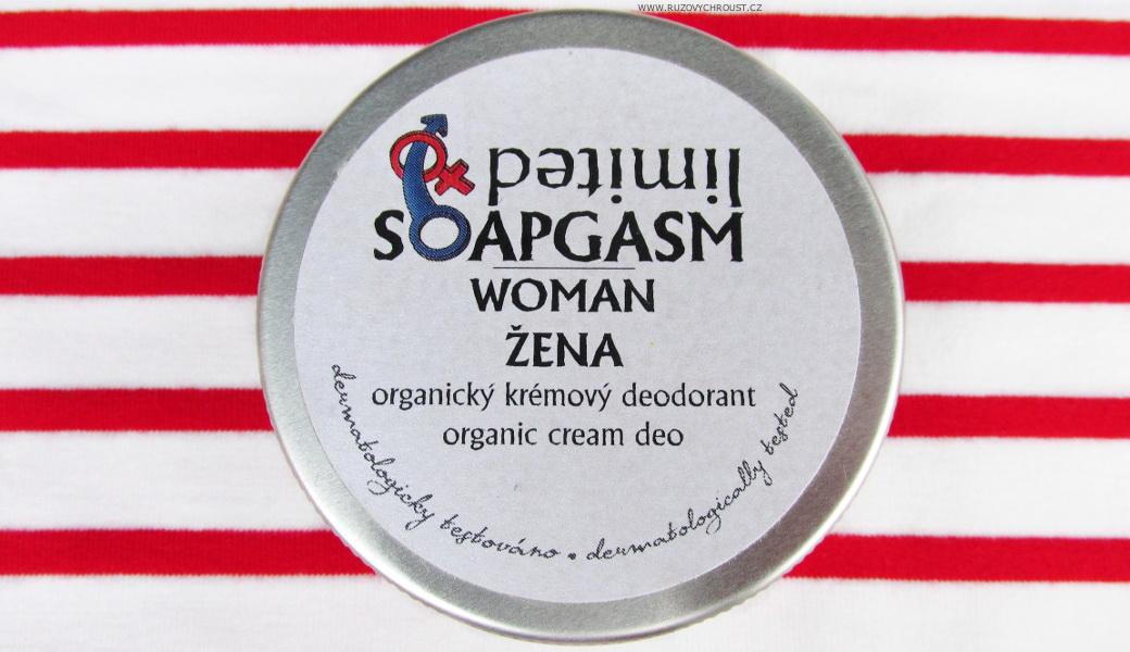 """Soaphoria - přírodní krémový deodorant s vůní """"Soapgasm Žena"""""""