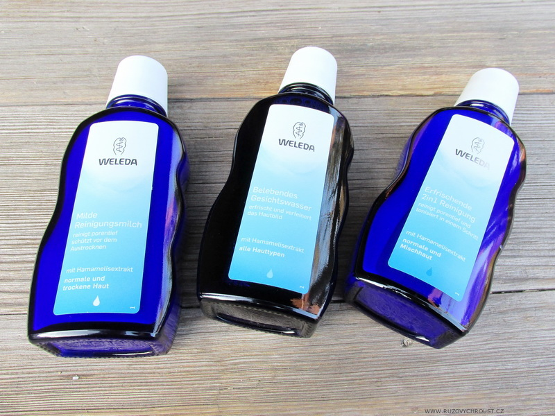 Weleda - čisticí trio - mléko, tonikum 2v1 a pleťová voda