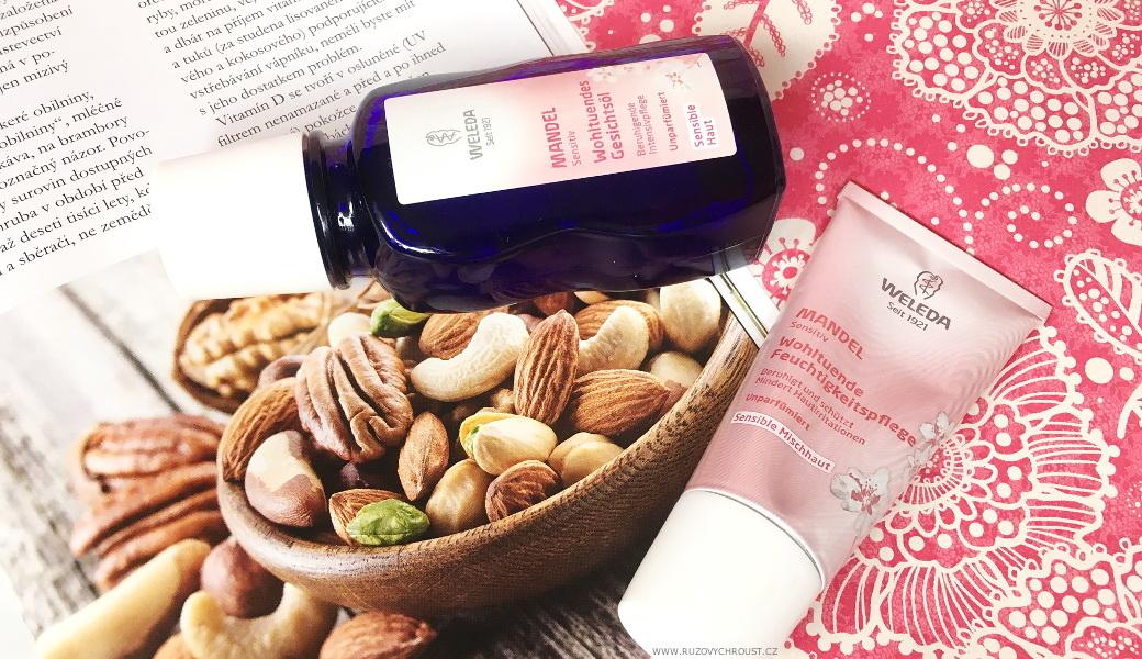 Weleda - mandlový pleťový olej a mandlový hydratační krém
