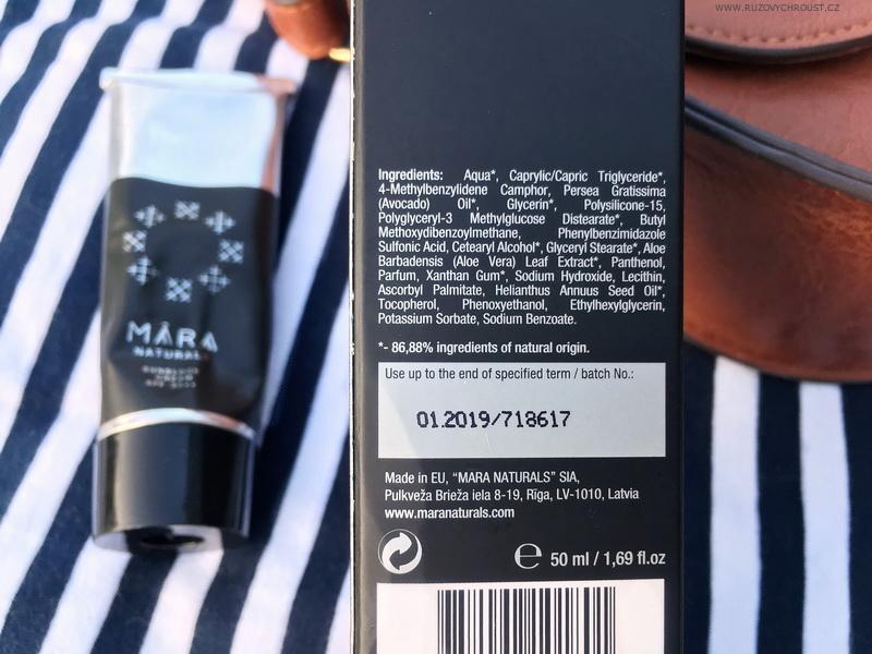 Mara Naturals - Ochranný krém SPF 30++ Bezinka