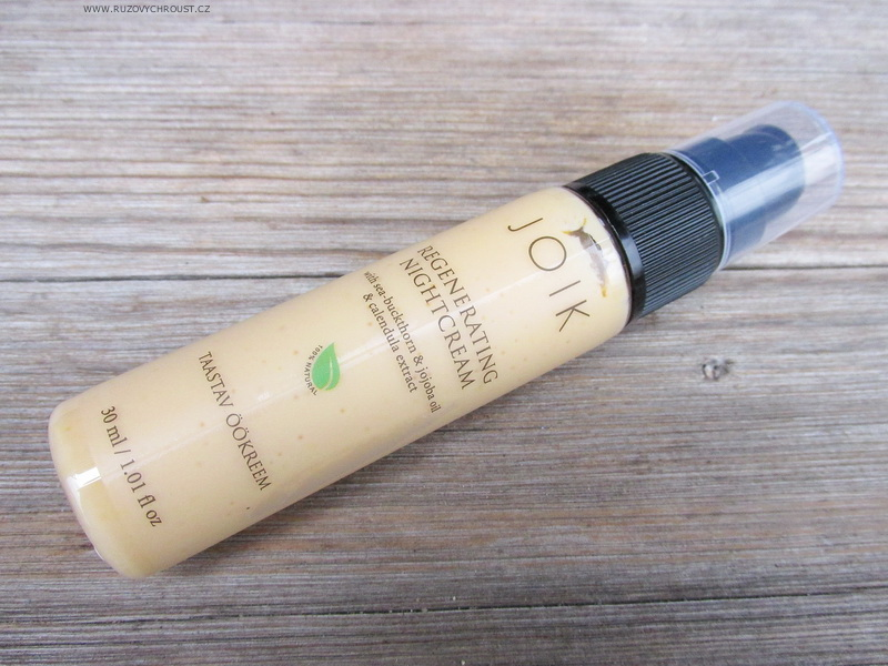 Joik - Regenerační noční krém s měsíčkem a olejem z rakytníku
