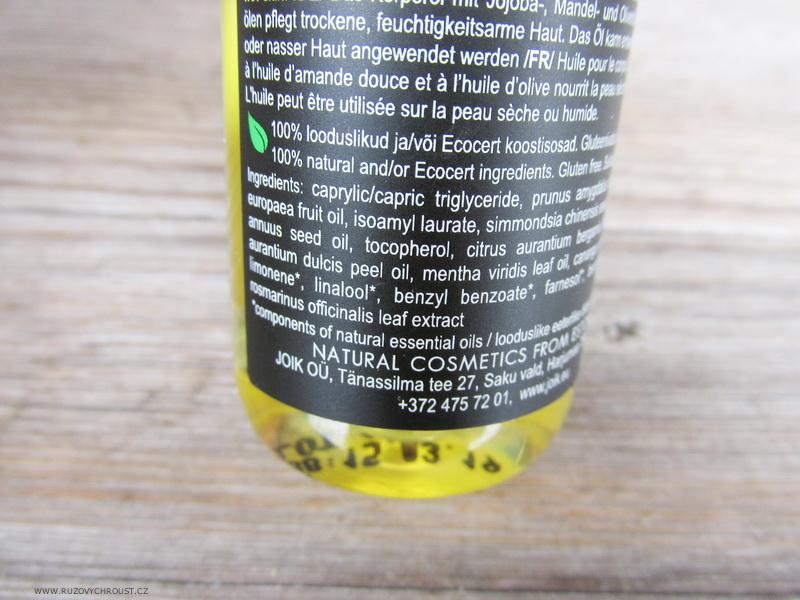 Joik - Hydratační tělový olej s pomerančem a mátou