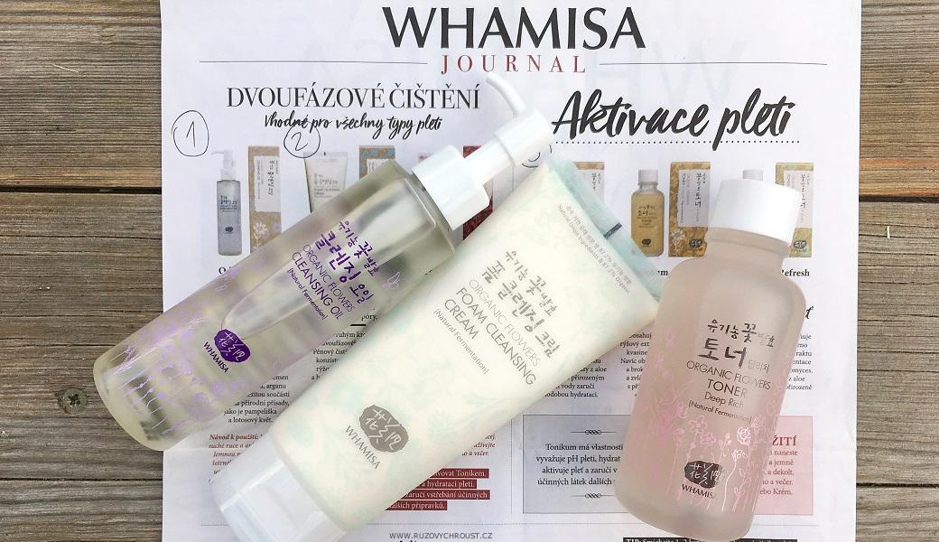 Whamisa - odličovací olej, pěnový čisticí krém, tonikum Deep Rich