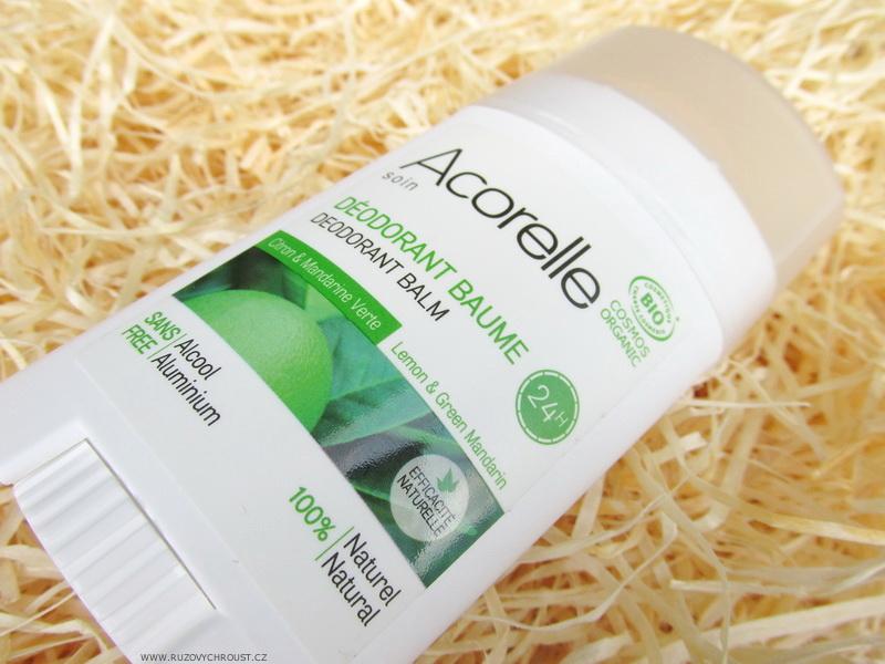 Acorelle - Tuhý deodorant citron-zelená mandarinka