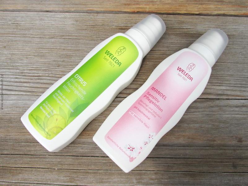Weleda - tělová mléka - Citrusové hydratační a Mandlové pro citlivou pokožku