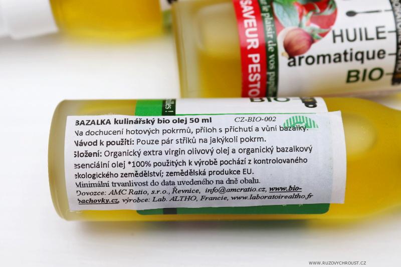 BAZALKA kulinářský bio olej
