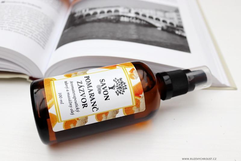 Savon - 2 tělové a masážní oleje (Jasmín a Pomeranč Zázvor)