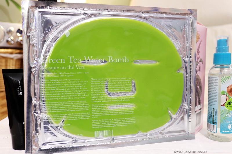 100% Pure pleťová hydratační maska se zeleným čajem