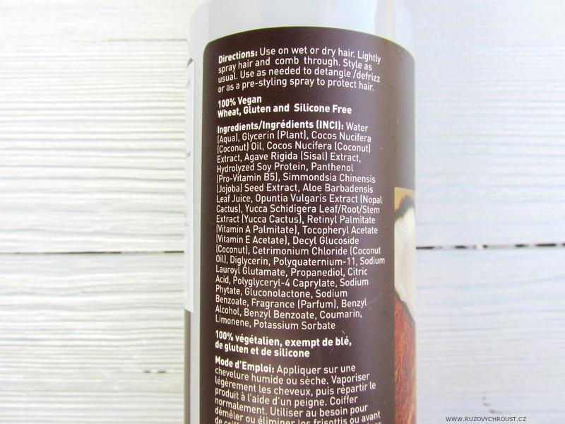 Desert Essence - Kokosový stylingový a ochranný sprej na vlasy