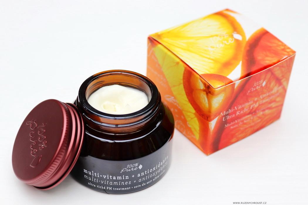 100% Pure - Pleťový noční krém Multivitamin a Antioxidanty