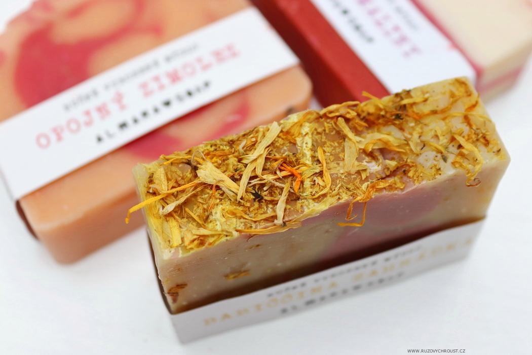 Almara Soap - 3 přírodní mýdla (Božské maliny, Babiččina zahrádka, Opojný zimolez)