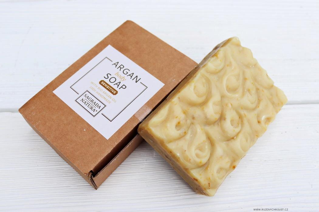 Sagrada Natura - arganová tuhá mýdla (Sensitive a Relax)