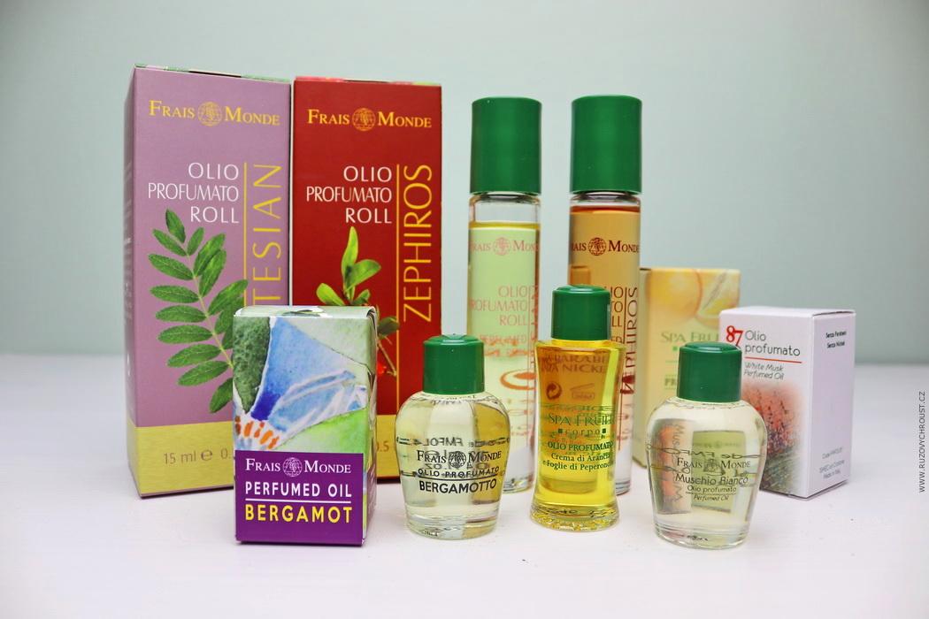 Frais Monde parfémované oleje - Spa Fruit Orange And Chilli Leaves, Etesian, Bergamot, White Musk a Zephiros