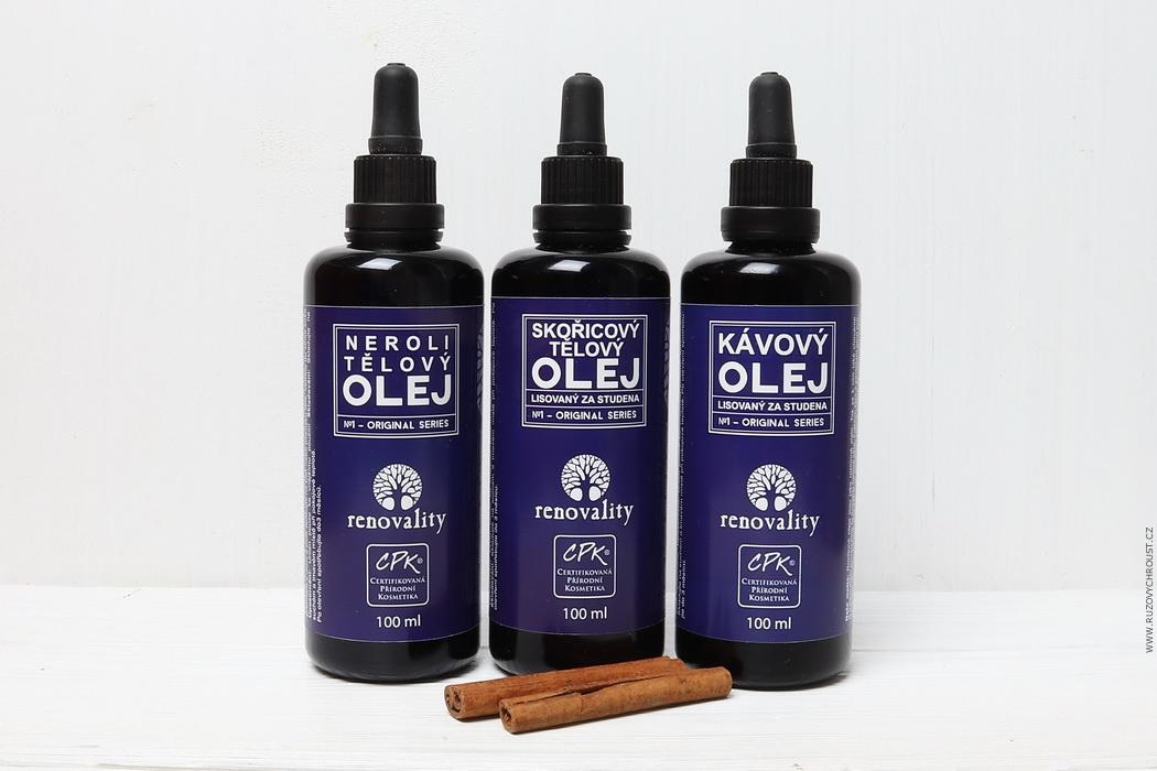 Renovality oleje - Kávový, Skořicový a Neroli