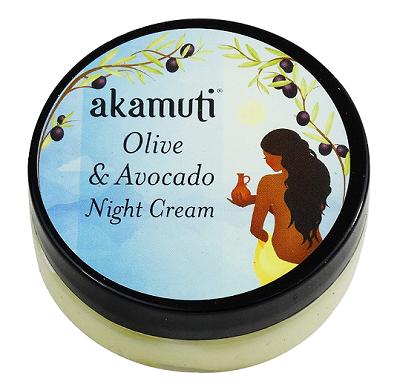 Akamuti pleťový noční krém oliva a avokádo