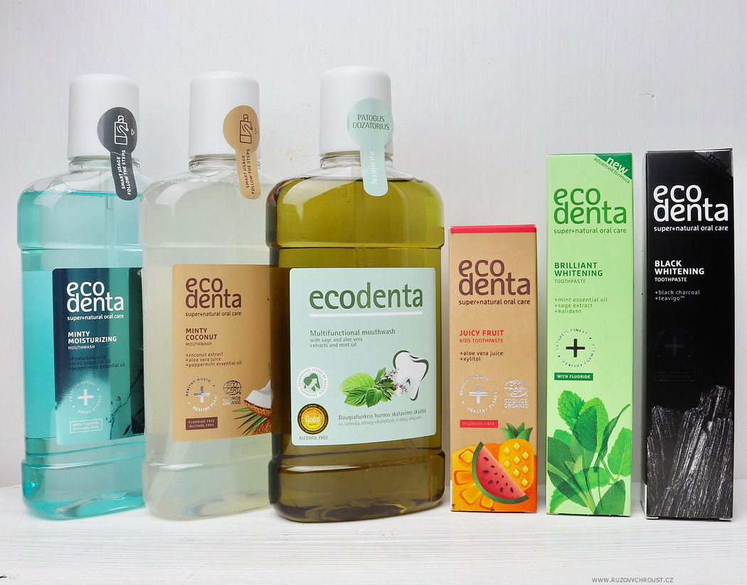 Ecodenta - pasty na zuby a ústní vody
