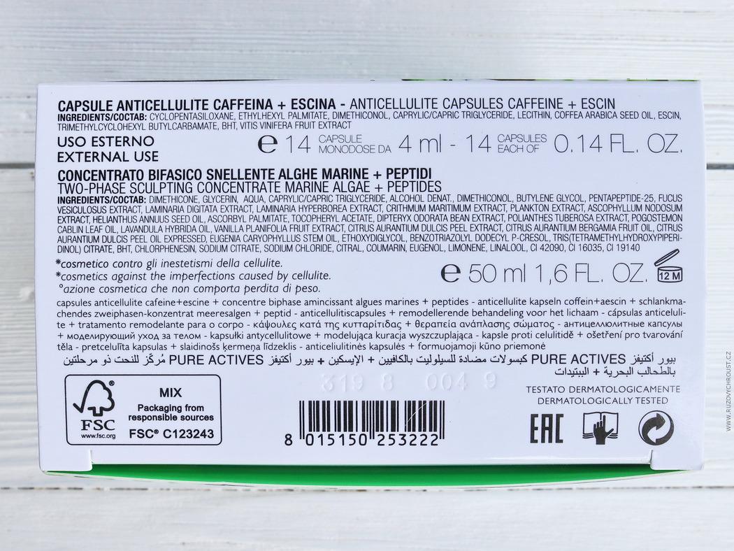 Collistar - kofeinové kapsle (14 ks) a zeštíhlující koncentrát