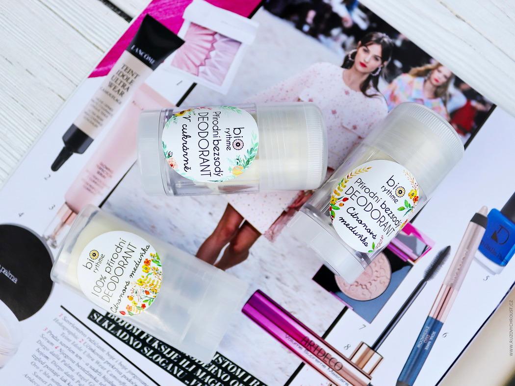 Biorythme - přírodní bezsodé deodoranty V cukrárně a Citronová meduňka