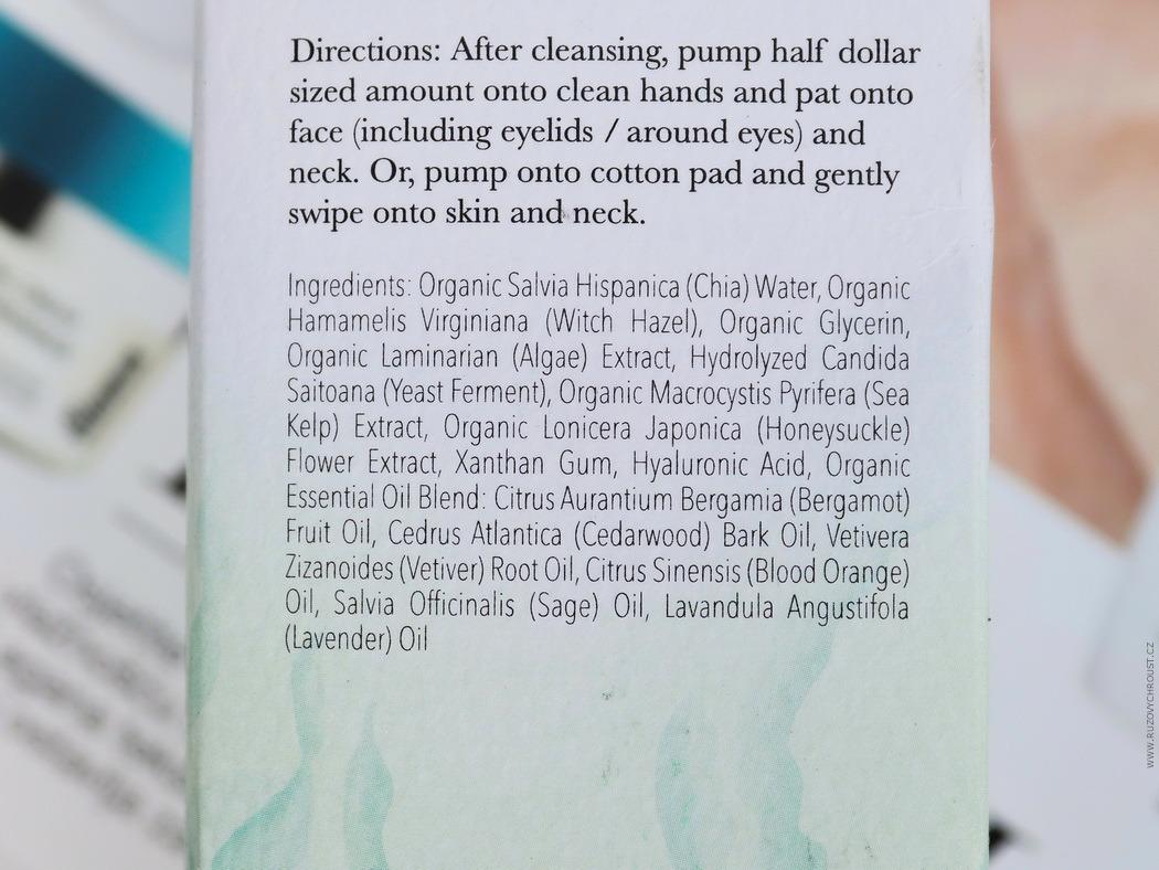 100% Pure - posilující pleťové tonikum s mořskými kulturami