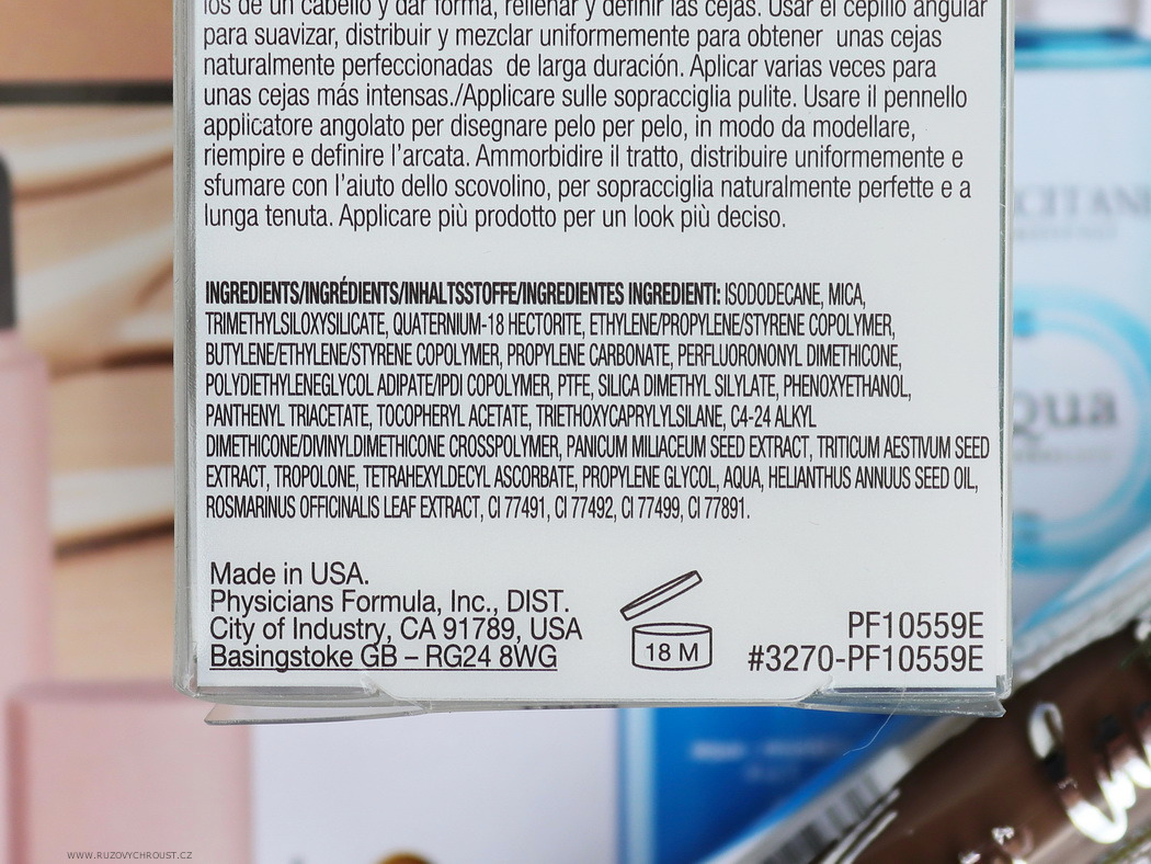 Physicians Formula Voděodolný gel na obočí Medium Brown