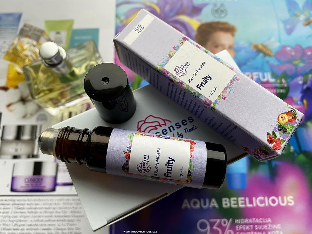 Navia parfémy Senses – toaletní parfém Glamorous a roll-on parfém Fruity (srovnání)