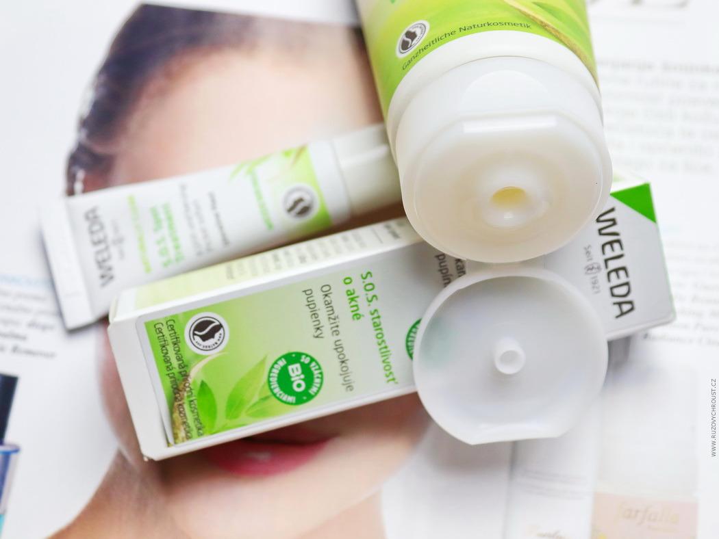 Weleda - Naturally Clear (rozjasňující mycí gel a S.O.S. péče na akné)