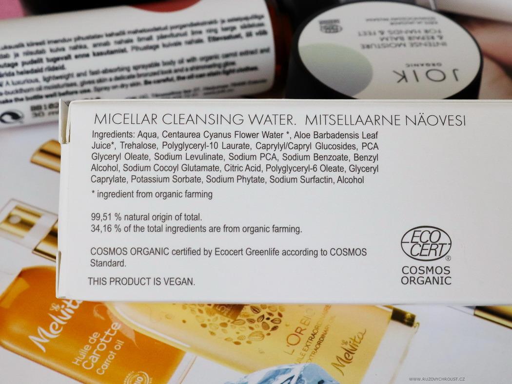 JOIK Micellar cleansing water (Time to start decorating!)
