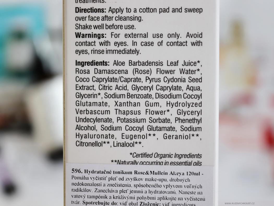Alteya Organics Rose & Mullein - rozjasňující sérum a hydratační tonikum