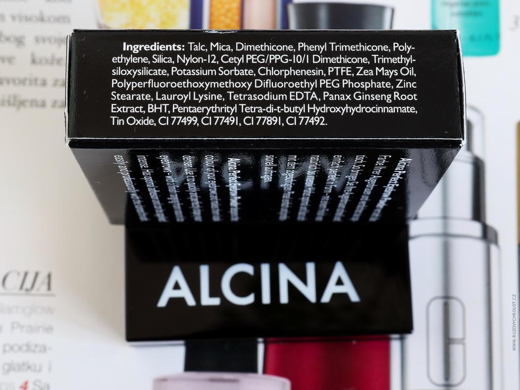 Alcina - pudr na obočí Perfect Eyebrow, odst. 020 Greybrown