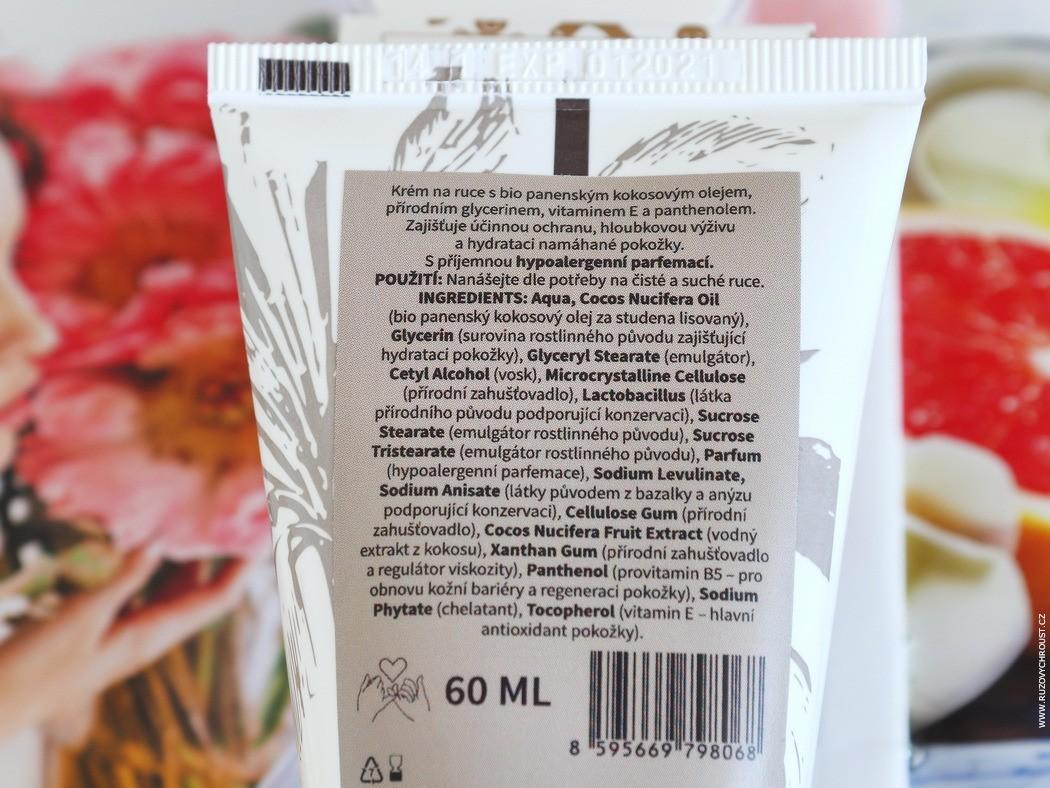 OSTĒ - kokosové tělové máslo, balzám na rty Perníček a krém na ruce Extra kokos