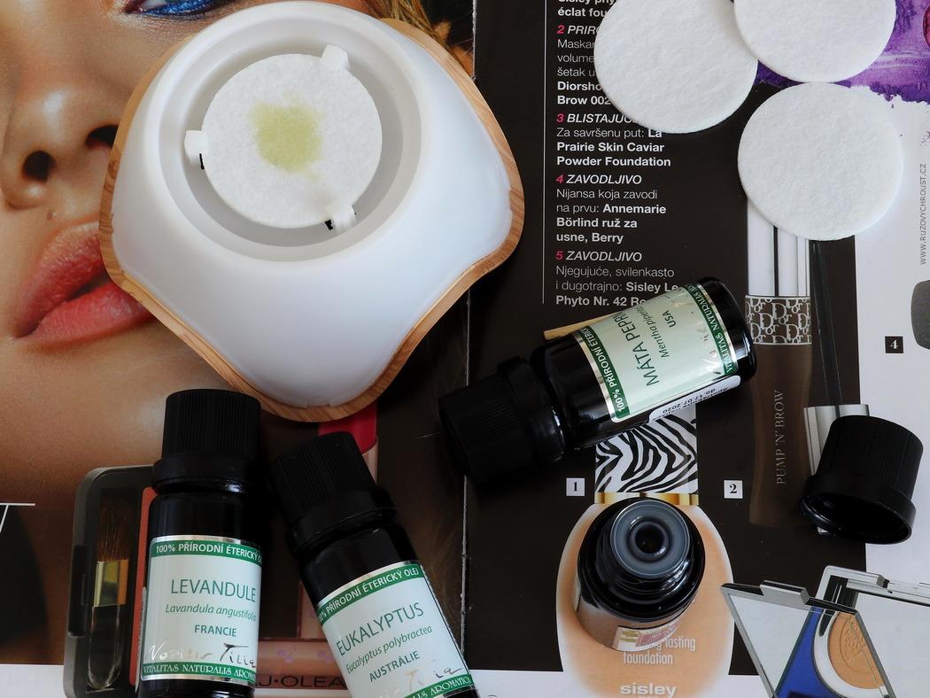 NuSpring - Nobilis Tilia (MINI difuzér) a EO Pracovní + Avril BIO čisticí micelární voda a BIO oční odličovač