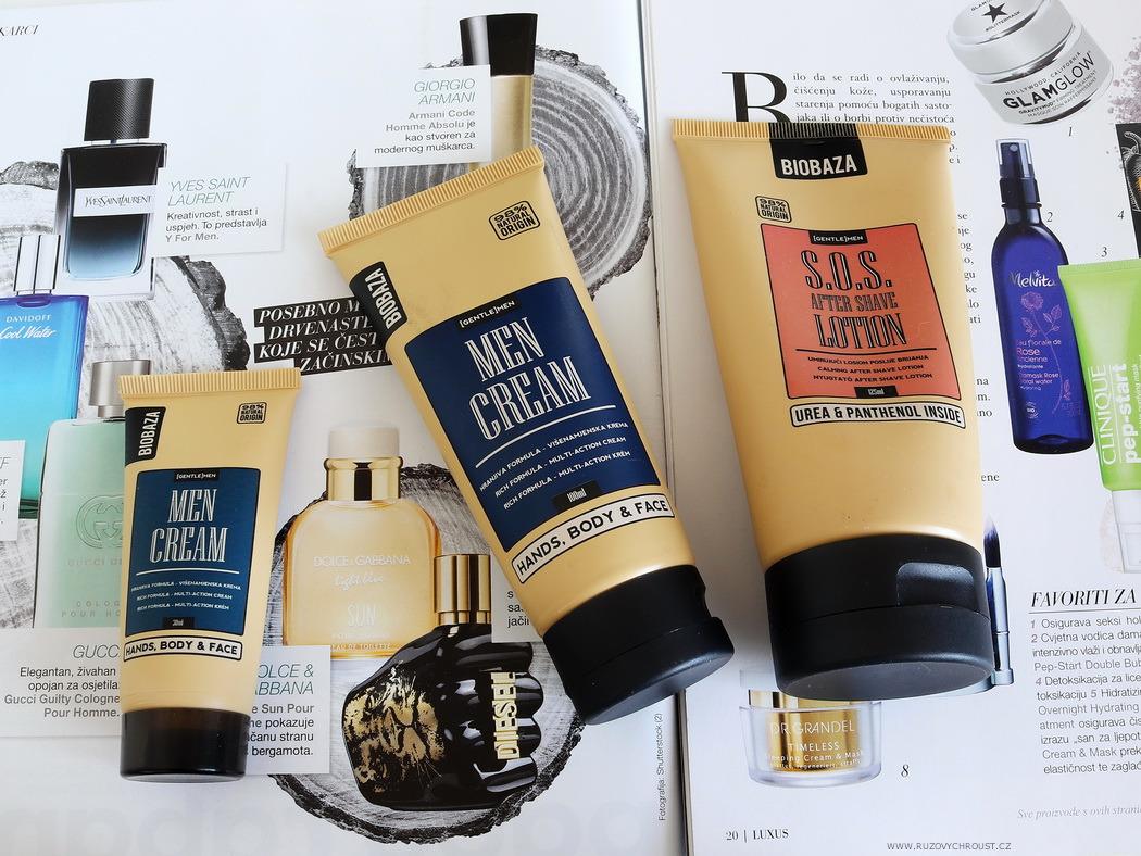 Biobaza - S.O.S after shave lotion (balzám po holení) a Men Cream (krém pro muže)