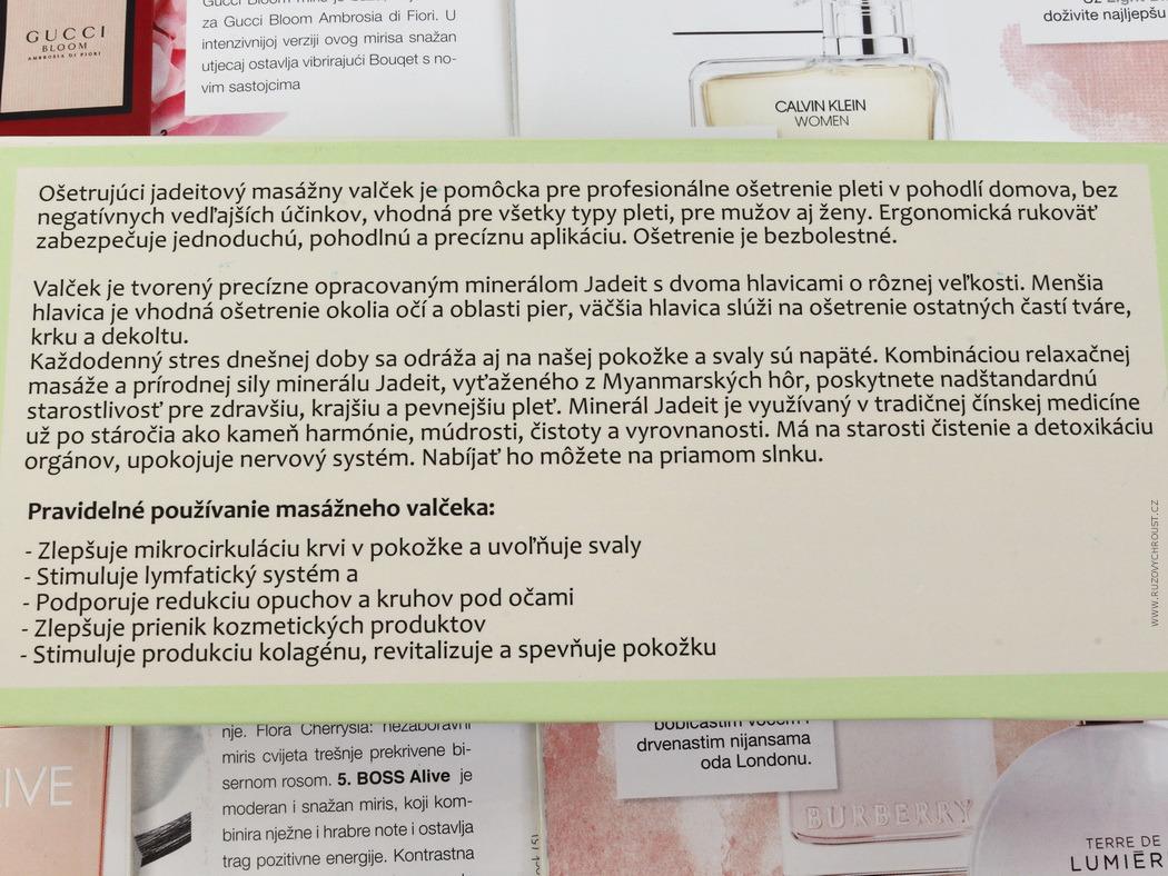 Kvitok - masážní váleček Jadeit